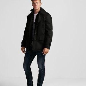 Express Jackets & Coats - NEW EXPRESS recycled wool water resistant pea coat